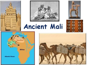 Ancient Mali Lesson & Flashcards- task cards, study guide, exam prep 2016 update