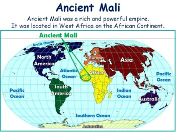 Ancient Mali Lesson & Flashcards- task cards, study guide, exam prep 2017 2018