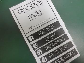 Ancient Mali Mini Flip Book