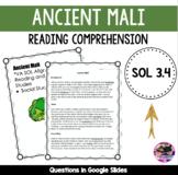 Ancient Mali Reading Comprehension - SOL 3.4