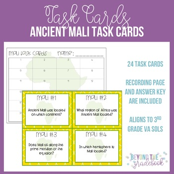 Ancient Mali Task Cards