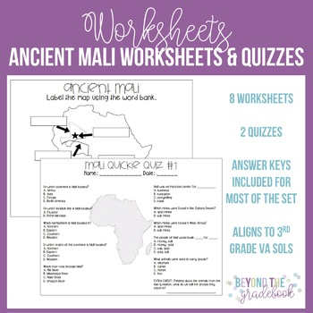 Ancient Mali Worksheets and Assessments