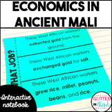 Ancient Mali economics activities interactive notebook