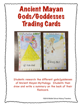 Ancient Mayan Religion Trading Cards