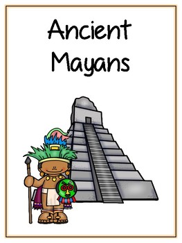 Ancient Mayans Writing Word Thematic Folder - Picture Word Wall