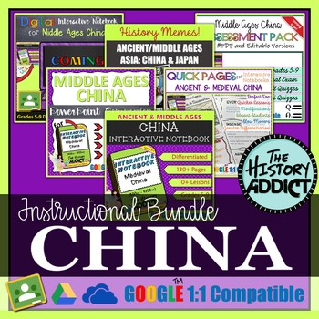 Ancient/Medieval China Interactive Notebook Instructional Bundle