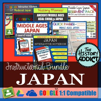 Ancient/Medieval Japan Interactive Notebook Instructional Bundle