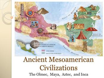 Ancient Mesoamerican Civilizations UNIT PLAN- Aztec Incas Mayans and Olmec !