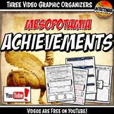 Mesopotamia Achievements YouTube Video Graphic Organizer N