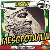 Ancient Mesopotamia Unit Plan Lesson & Activity Bundle Common Core Grades 5-8