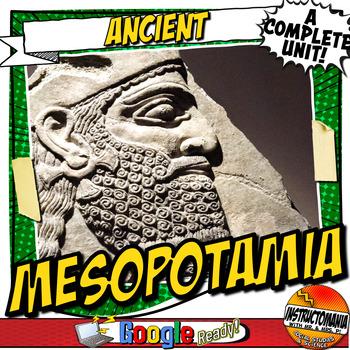Ancient Mesopotamia Lesson & Activity COMPLETE UNIT Bundle Common Core 5-8