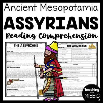 Ancient Mesopotamia Akkadian Empire Reading Comprehension Worksheet