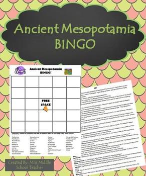 Ancient Mesopotamia BINGO