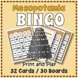 Ancient Mesopotamia BINGO - Ancient Mesopotamia Activity