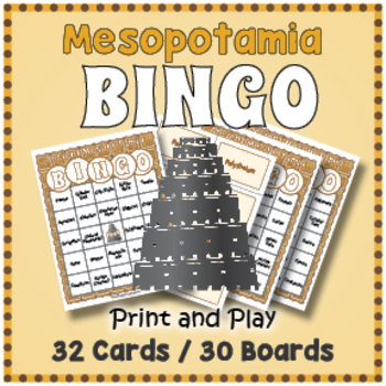 Ancient Mesopotamia BINGO - Ancient Mesopotamia Activity
