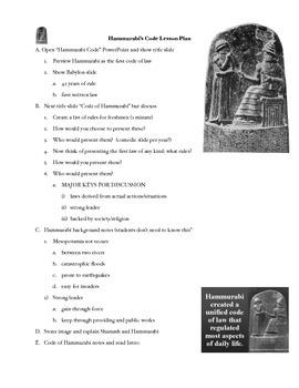 Ancient Mesopotamia: Code of Hammurabi