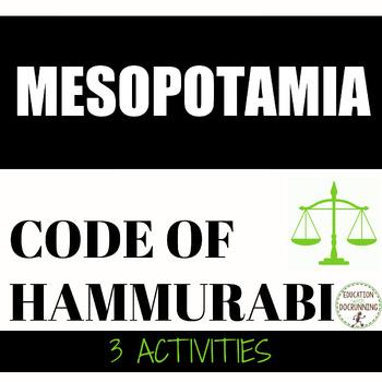 Ancient Mesopotamia Code of Hammurabi Station Activities