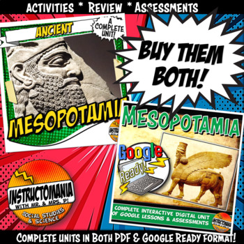 Ancient Mesopotamia Complete Unit and Google Ready Combined Activity