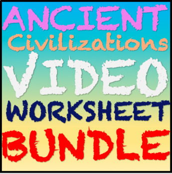 Ancient Mesopotamia, Egypt,China,India,Greece and Neolithic Movie Sheet Bundle!