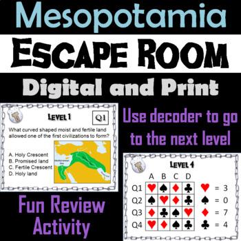 Ancient Mesopotamia: Escape Room - Social Studies