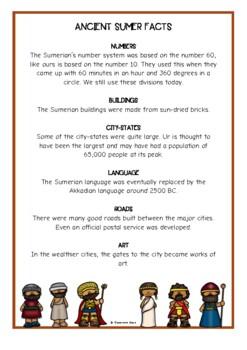 Ancient Mesopotamia Fact Cards