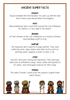 Ancient Mesopotamia Fact Cards