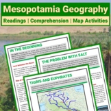 Ancient Mesopotamia Geography Reading & Editable PDF Compr
