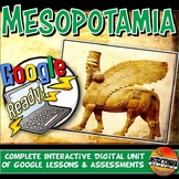 Ancient Mesopotamia Google Classroom Complete Unit Plan Lesson & Activity 5-8