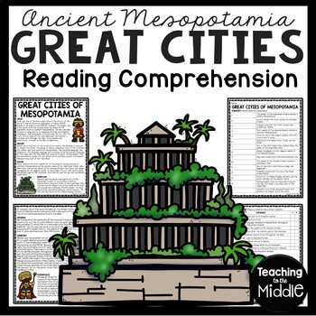 Ancient Mesopotamia Great Cities Reading Comprehension Worksheet