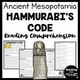 Ancient Mesopotamia Hammurabi's Code Reading Comprehension