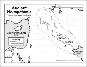 Ancient Mesopotamia Map Freebie