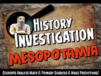 Ancient Mesopotamia Investigation History Lesson Stations