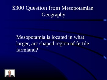 Ancient Mesopotamia Jeopardy Review Game