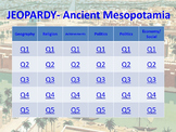 Ancient Mesopotamia Jeopardy-Style Review Game