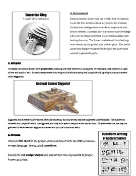 Ancient Mesopotamia - Key Points (Teacher & Student Guided Notes)