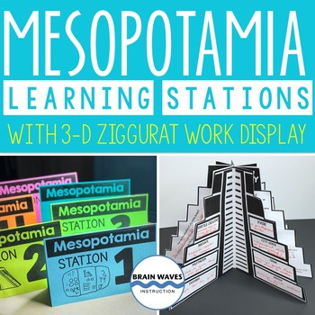 Ancient Mesopotamia Learning Stations, 3-D Ziggurat Display, Lessons, Activities