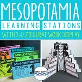 Ancient Mesopotamia Learning Stations, 3D Ziggurat, Mesopotamia Activities
