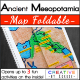 Ancient Mesopotamia Map Foldable for Interactive Notebooks