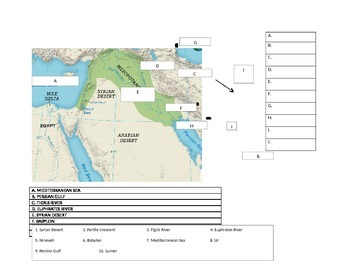 Ancient mesopotamia map quiz by middle school world history tpt ancient mesopotamia map quiz gumiabroncs Images