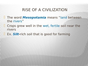 Ancient Mesopotamia PowerPoint Presentation Lecture Aid