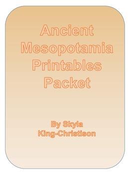 Ancient Mesopotamia Printables