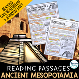 Ancient Mesopotamia Reading Passages - Questions - Annotations