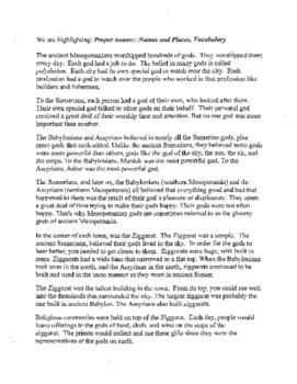 Ancient Mesopotamia Religion Reading