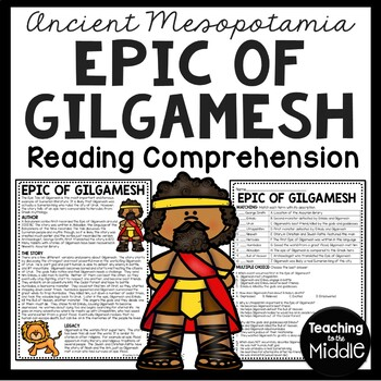Ancient Mesopotamia Religion Reading Comprehension Worksheet
