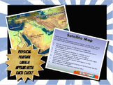 Ancient Mesopotamia Satellite Map Physical Geography PowerPoint Introduction