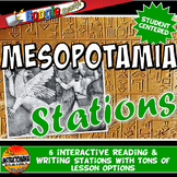 Ancient Mesopotamia Stations with Key Questions Graphic Organizer
