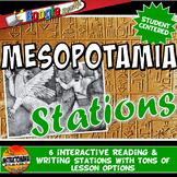 Ancient Mesopotamia Stations: Graphic Organizer & Google Reading Investigation