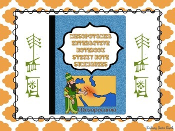 Ancient Mesopotamia Sticky Note Summaries - Interactive No