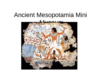 Ancient Mesopotamia Sumeria Egypt Mini Museum