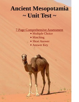 Ancient Mesopotamia Test & Study Guide